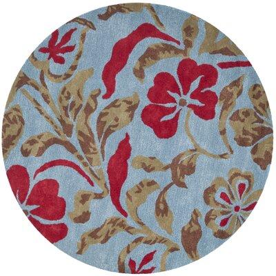 Bartlet Blue Rug Rug Size: Round 6