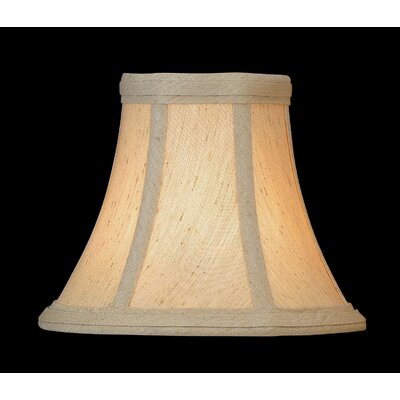 6 Fabric Bell Lamp Shade Finish: Beige
