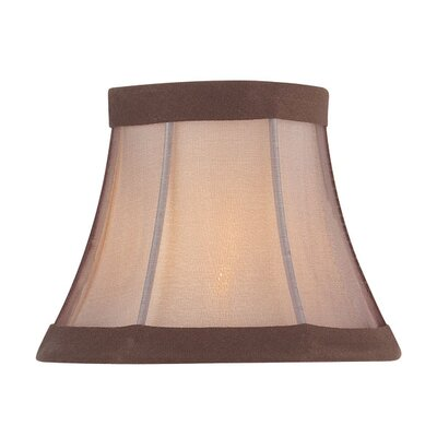 5 Fabric Bell Candelabra Shade Color: Light Burgundy