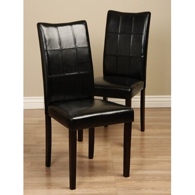 Etelvina Side Chair Upholstery: Black
