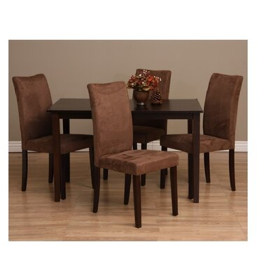 Evendale 5 Piece Dining Set Chair Finish: Sugar Brown