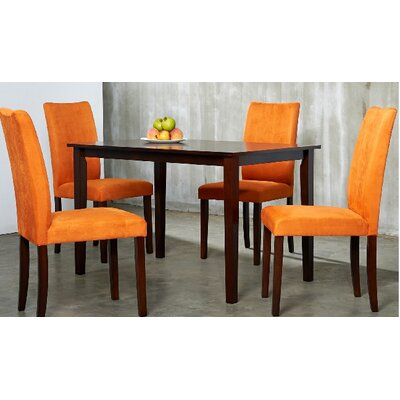 Evendale 5 Piece Dining Set Chair Finish: Orange