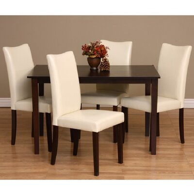 Evendale 5 Piece Dining Set Chair Finish: Chalk