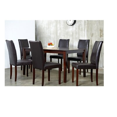 Evendale 7 Piece Dining Set Chair Finish: Brown