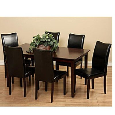Evendale 7 Piece Dining Set Chair Finish: Black