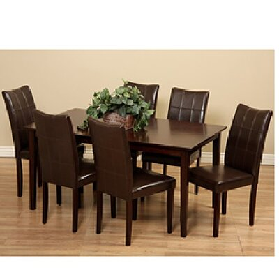 Etelvina 7 Piece Dining Set Chair Finish: Brown