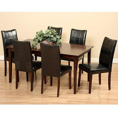 Etelvina 7 Piece Dining Set Chair Finish: Black