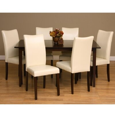 Evendale 7 Piece Dining Furniture Set Chair Finish: Chalk