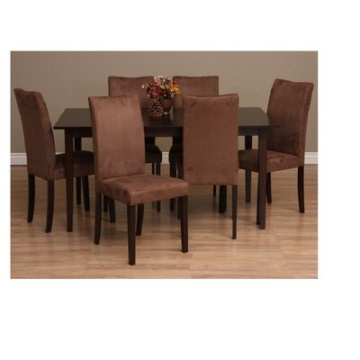 Evendale 7 Piece Dining Furniture Set Chair Finish: Sugar Brown