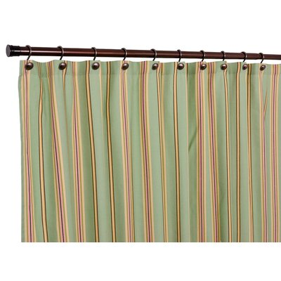 Englewood Medium Scale Stripe Shower Curtain Color: Green