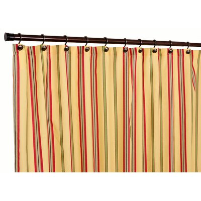 Englewood Medium Scale Stripe Shower Curtain Color: Yellow
