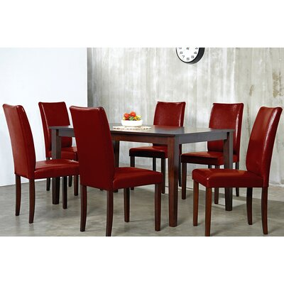 Evendale Crimson 7 Piece Dining Set