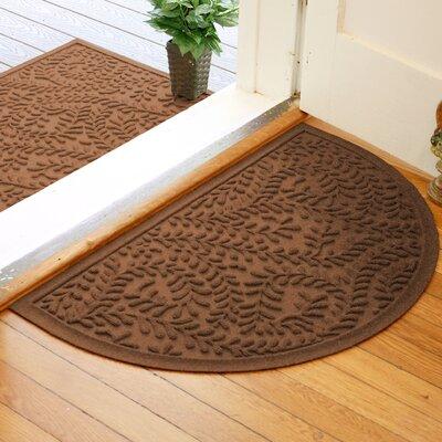 Fairborn Aqua Shield Boxwood Doormat Color: Dark Brown