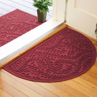 Fairborn Aqua Shield Boxwood Doormat Color: Red/Black