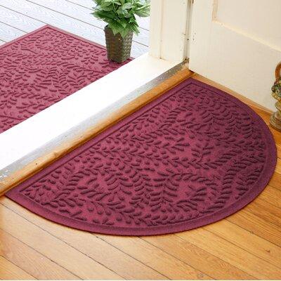 Fairborn Aqua Shield Boxwood Doormat Color: Bordeaux