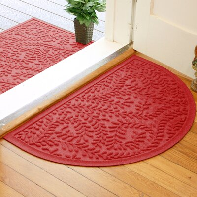 Fairborn Aqua Shield Boxwood Doormat Color: Solid Red