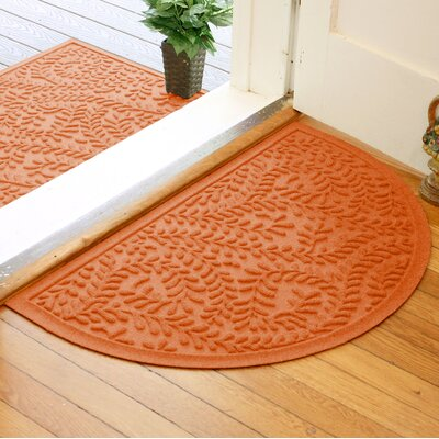 Fairborn Aqua Shield Boxwood Doormat Color: Orange