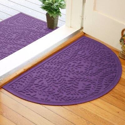 Fairborn Aqua Shield Boxwood Doormat Color: Purple