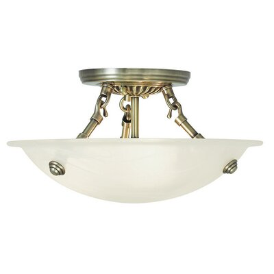 Everett Semi Flush Mount Finish: Antique Brass
