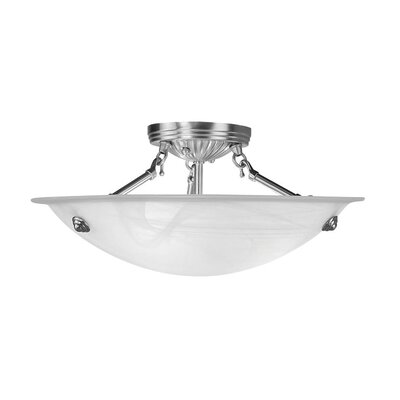 Everett Semi Flush Mount Finish: Brushed Nickel