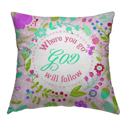 Fitchburg God 1 Throw Pillow Size: 18 H x 18 W x 4 D