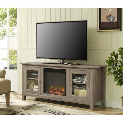 Inglenook 58 TV Stand with Fireplace Finish: Ash Grey