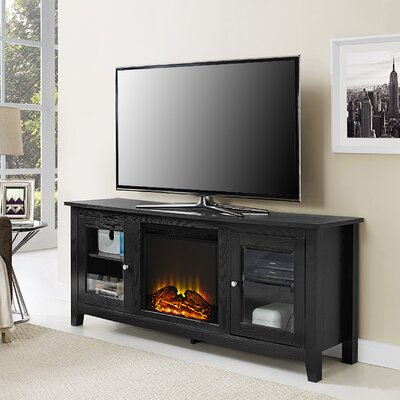 Riverwoods TV Stand with Electric Fireplace Finish: Black