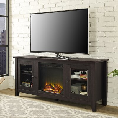 Inglenook 58 TV Stand with Fireplace Color: Espresso
