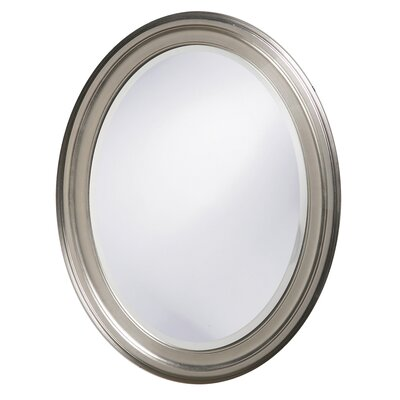 Oval Wood Wall Mirror