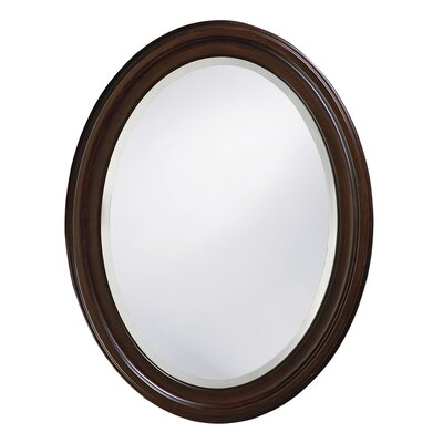 Oval Wood Wall Mirror Finish: Chocolate Brown Lacquer