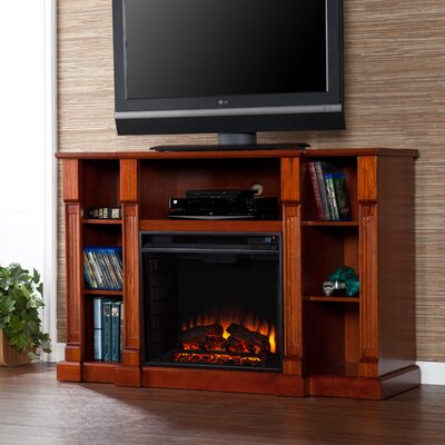 Rochelle TV Stand with Electric Fireplace Finish: Classic Mahogany