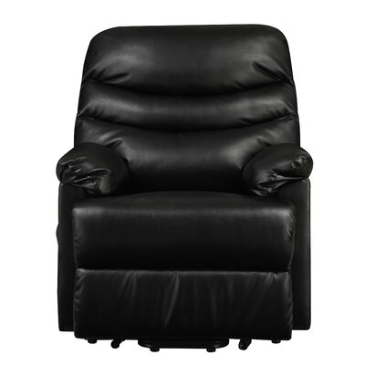 Rockefeller Lift Chair Recliner Upholstery: Black