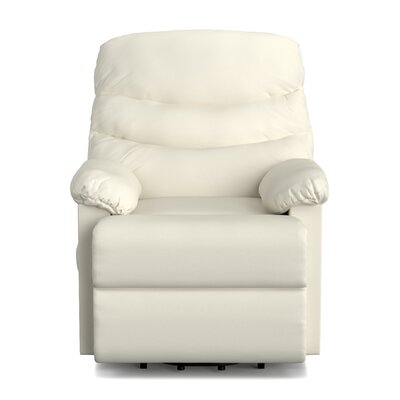 Rockefeller Leather Power Wall Hugger & Lift Recliner Upholstery: Cream