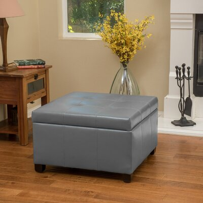 Massey Faux Leather Storage Ottoman Upholstery: Grey