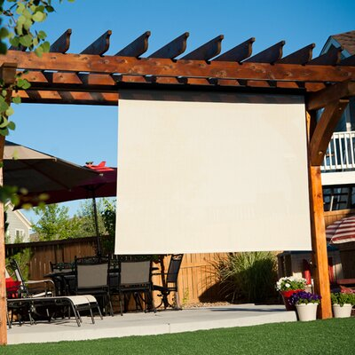 Motorized Semi-Sheer Solar Shade Color: Tropic, Size: 96 W x 96 L