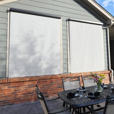 Motorized Semi-Sheer Solar Shade Size: 96 W x 96 L, Color: Caribbean