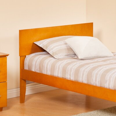 Forestville Panel Headboard Color: Caramel Latte, Size: Twin
