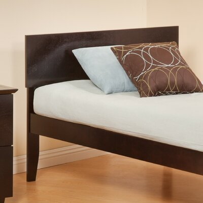 Forestville Panel Headboard Color: Espresso, Size: Twin