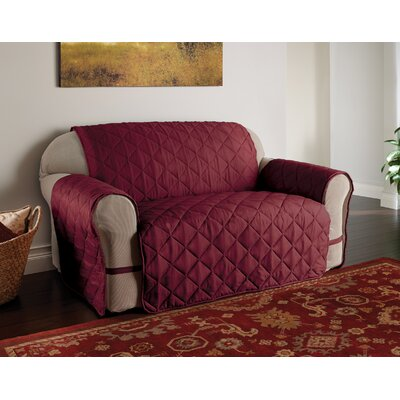 DuVig Sofa Slipcover Color: Burgundy