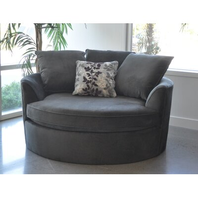 Roquefort Cuddler Barrel Chair Upholstery: Grey