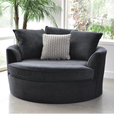 Roquefort Cuddler Barrel Chair Upholstery: Black