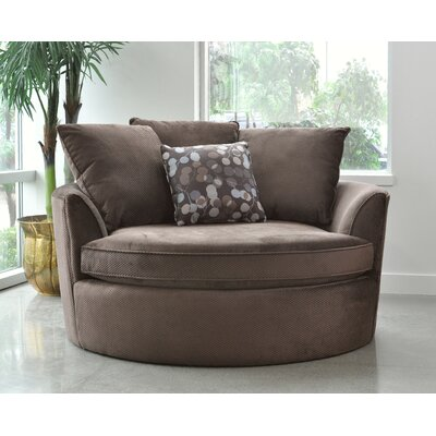 Roquefort Cuddler Barrel Chair Upholstery: Brown