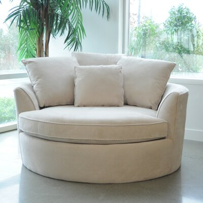 Marta Cuddler Chair and a Half Upholstery: Creme