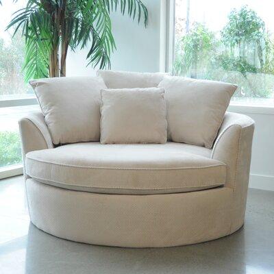 Roquefort Cuddler Barrel Chair Upholstery: Creme