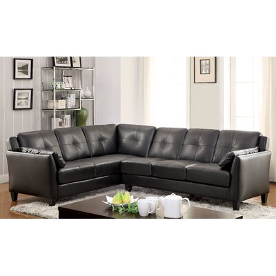 Rosemond Sectional Upholstery: Black