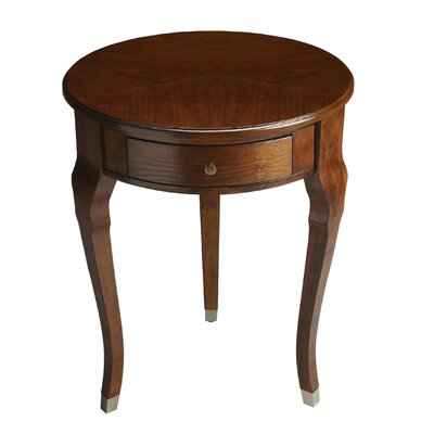 Francine End Table Color: Chestnut Burl