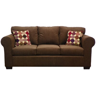 Franklin Sofa Upholstery: Vermont Chocolate / Spectator Vino