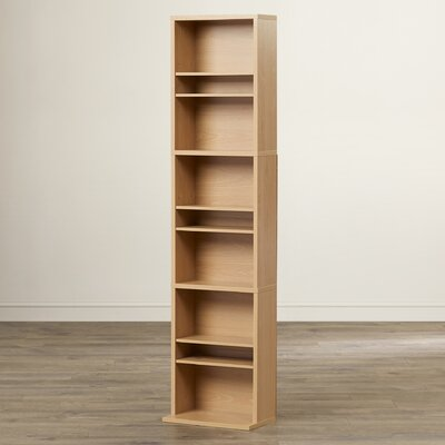 Traditional Wood Multimedia Storage Rack Finish: Maple