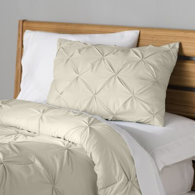 Fulham Comforter Set Color: Taupe, Size: King