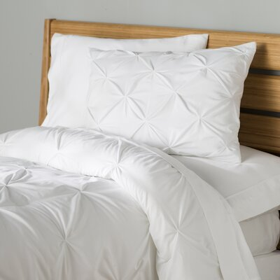 Fulham Comforter Set Color: White, Size: Twin